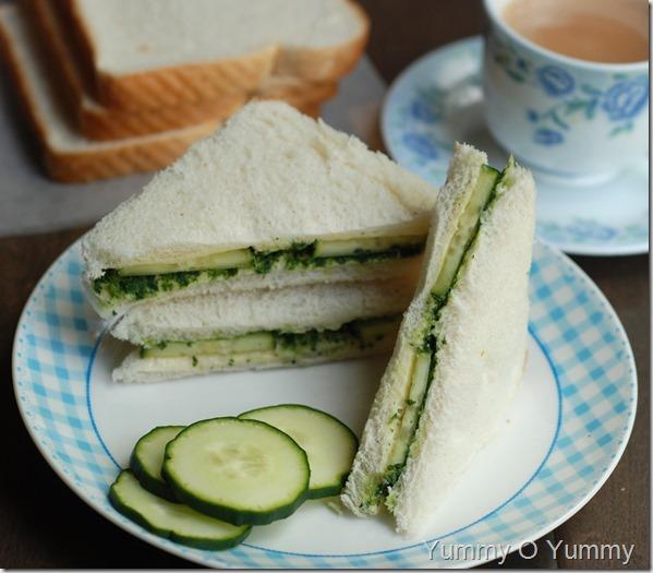 Indian cucumber sandwich