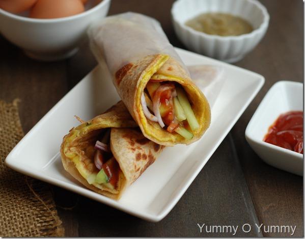 Kolkata Style Egg Roll