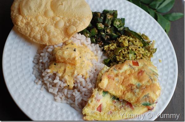 Kerala style omlelet