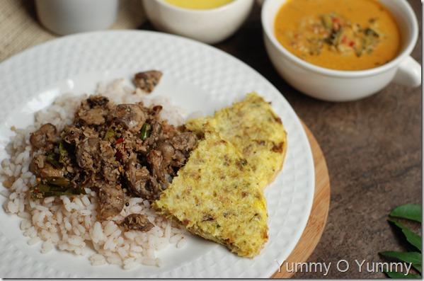 Chicken omelet