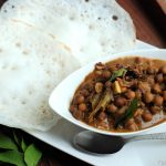 Black Chickpea curry with coconut milk / Kadala Thengapal Curry