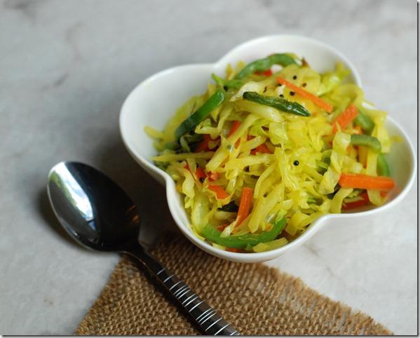 Cabbage sambharo