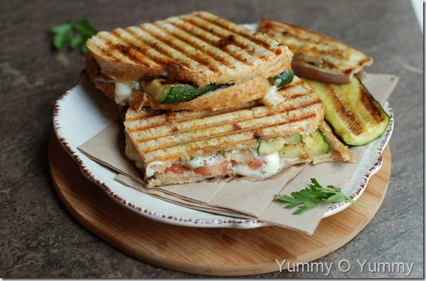 Vegetable Panini Sandwich