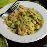 Cilantro Pesto Pasta with Shrimp