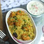 Green Shrimp Pulao