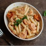 Cajun Shrimp Pasta in a Creamy Tomato Sauce