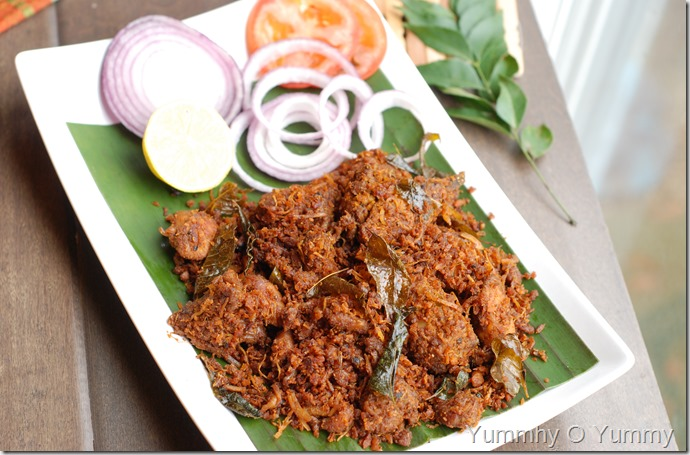 Chicken Coconut Ularthiyathu
