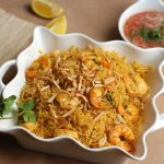 Shrimp Kabsa with Salata Hara