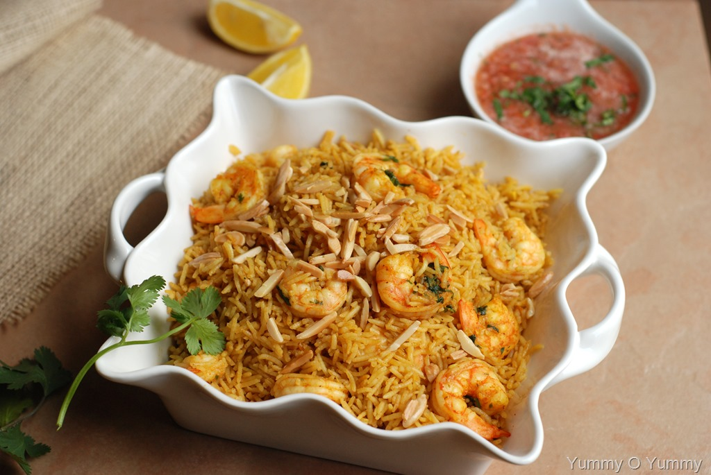 Shrimp Kabsa With Salata Hara Yummy O Yummy