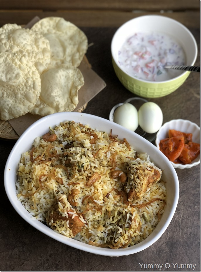Fried Chicken Biriyani