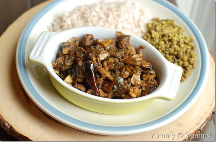 Mushroom Beef Ularthiyathu