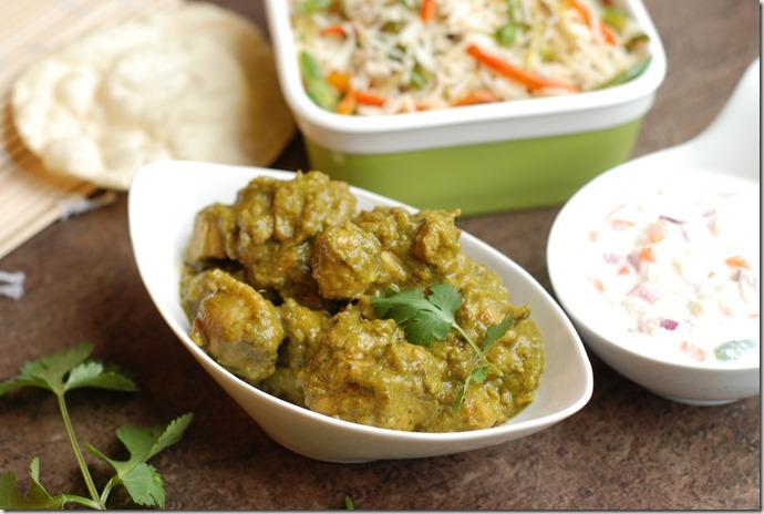 Coriander chicken masala