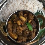 Beef Koorkka (Chinese Potato) Ularthu / Beef um Koorkka yum