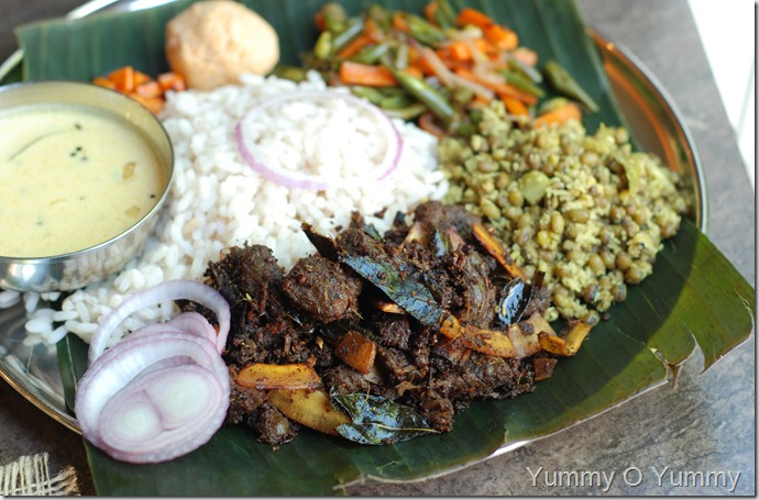 Thattukada style beef ularthiyathu