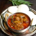 Varutharacha Mutton Curry / Mutton in roasted coconut gravy