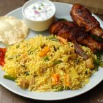 Vegetable Brinji Rice / Tamil Nadu Style Vegetable Pulao