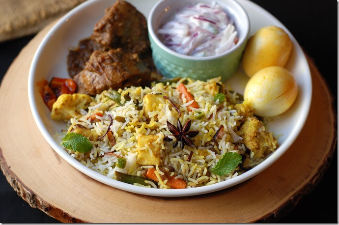 Hyderabadi vegetable biriyani