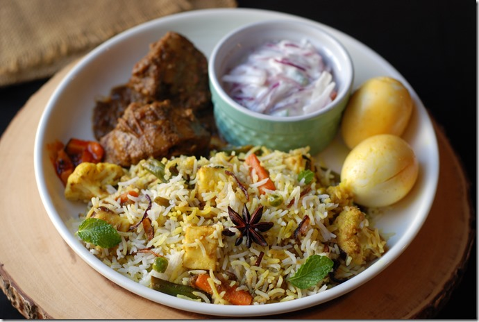 Hyderabadi Vegetable Dum Biriyani