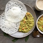 Palappam with Green Peas Curry