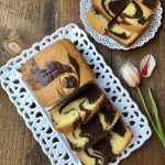 Easy Eggless Marble Cake